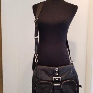 PRADA Black Nylon & Leather Adjust  Crossbody  Bag
